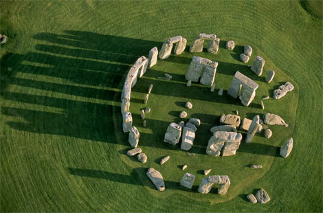 Aerial picture of Stonehenge